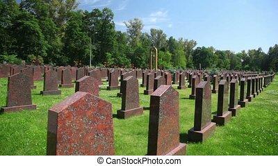 soviétique, tombeaux, soldats