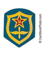 soviet army air force badge isolated