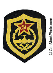 soviet army corps of engineers badge isolated