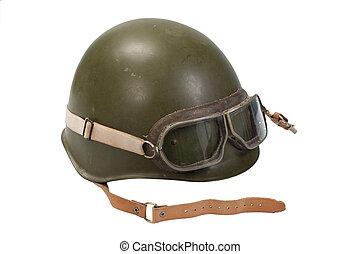 soviet army infantry helmet isolated on white