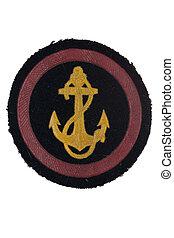 soviet army marines badge isolated