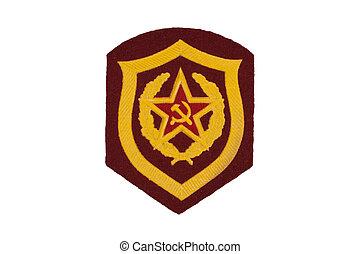 soviet army mechanized infantry badge isolated