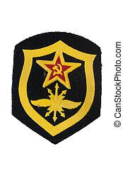 soviet army signal-corps badge isolated