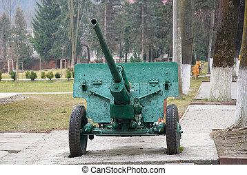 Soviet artillery gun cannon