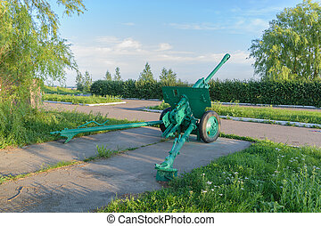 Soviet artillery gun