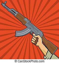 soviet, assalire fucile