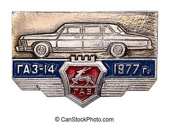 soviet, distintivo, gaz