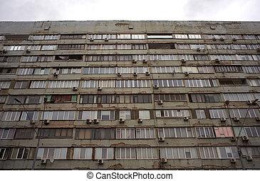 Soviet-era apartment block, Kiev - Soviet-era apartment...