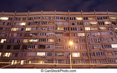 soviet-era, blocco appartamento, kiev