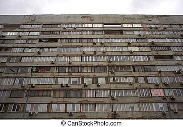 soviet-era, bloque de departamentos, kiev