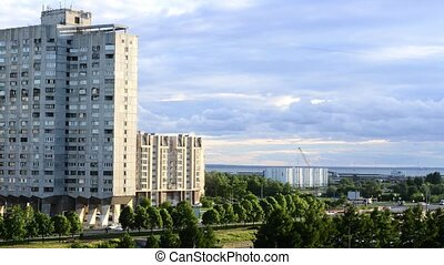 Soviet-era high-rises of Vasilievsky Island, Saint...