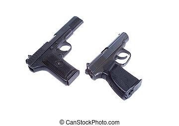 Soviet handgun TT (Tula, Tokarev) and PMM (Makarov) isolated...