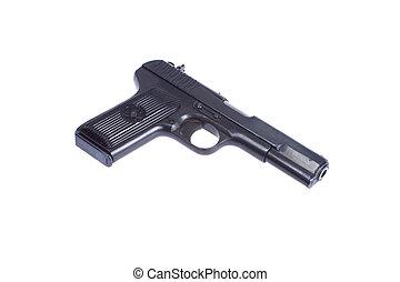 Soviet handgun TT (Tula, Tokarev) isolated on white...