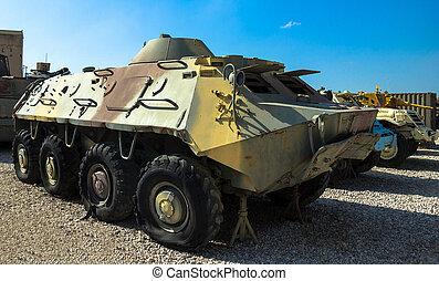Soviet made amphibious BTR- 60 - Soviet made amphibious BTR-...