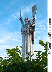 motherland monument - soviet motherland monument against ...