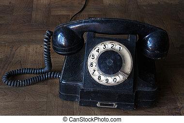 Soviet old black vintage phone
