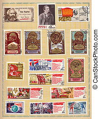 Soviet postage stamps 1970
