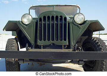 Soviet retro car GAZ-67 in museum