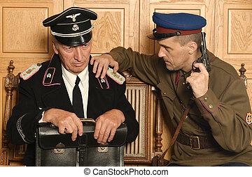 soldier taking kraut - Soviet soldier taking kraut hostage ...