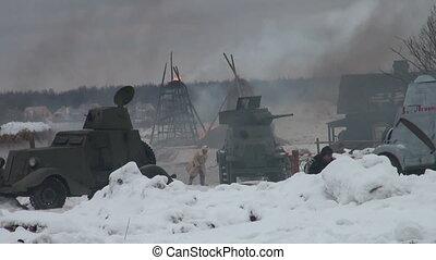 Soviet soldiers in the war at Leningrad
