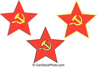 Soviet star, hammer and sickle