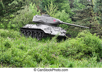 Soviet tank T-34 from World War II, Slovakia - Soviet tank...