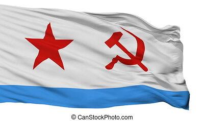 Soviet Union Naval Ensign Flag Isolated Seamless Loop -...