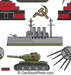 USSR military equipment architecture and technology seamless...