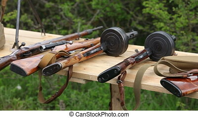 Soviet weapon prepared for shooting