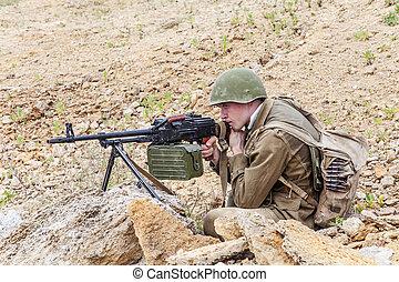 sovjet, valschermjager, in, afghanistan