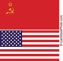 sovjetisk sammanslagning, och, usa sjunker