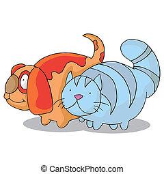 sovrappeso, cane, gatto