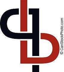 sovrapposto, arte, iniziale, logotype, tema, vettore, lettera, logotipo