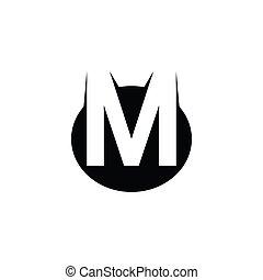 sovrapposto, iniziale, logotype, tema, lettera, logotipo