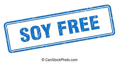 soy free stamp. square grunge sign on white background