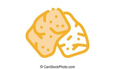 soy meat Icon Animation. color soy meat animated icon on white background