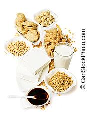 soy, witte , producten, vrijstaand