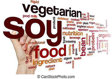 Soy word cloud concept