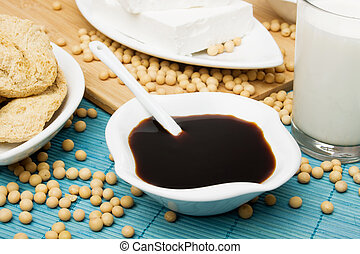 Soya sauce, tofu and other soy products