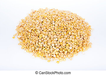 soybean on a white background