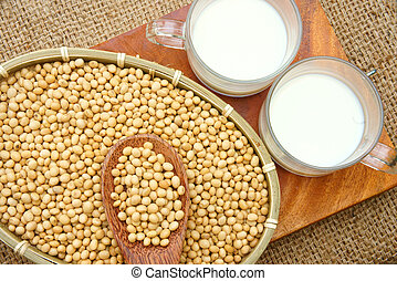 Soybean, soymilk, nutrition beverage - Soybean name Glycine ...