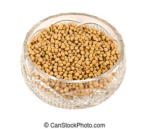 Soybeans in a vase
