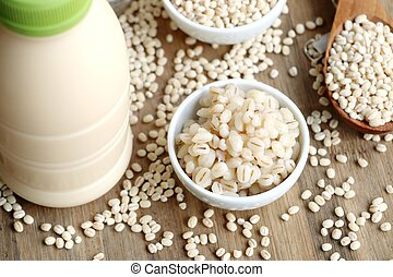 soymilk and barley seed