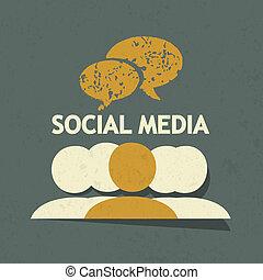 sozial, medien, begriff