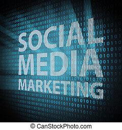 sozial, medien, begriff, marketing