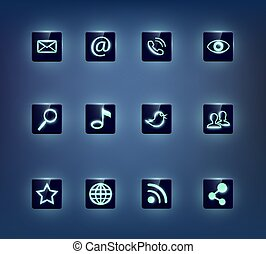 sozial, medien, heiligenbilder, satz