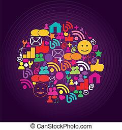 sozial, medien, heiligenbilder