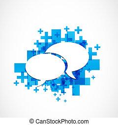 sozial, medien, kommunikation, begriff