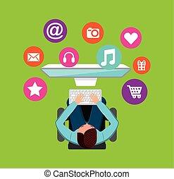 sozial, medien, vernetzung, heiligenbilder