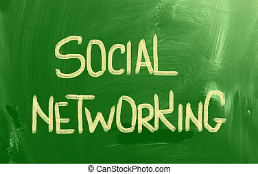 sozial, networking, begriff